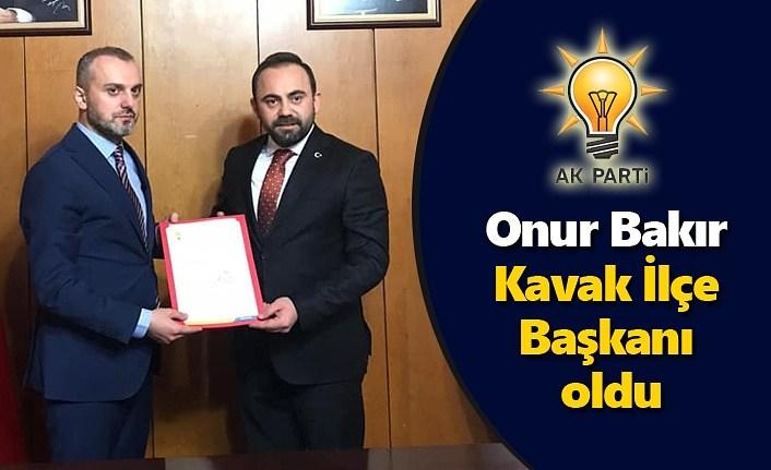 Onur Bakır AK Parti Kavak İlçe Başkanı oldu