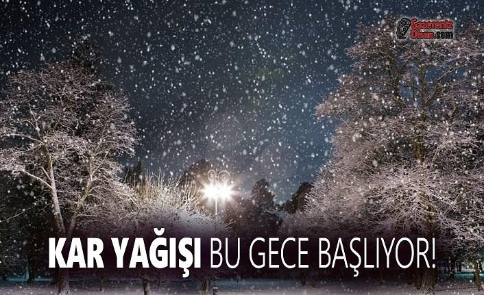 Samsun'da Kar Yağışı Bu Gece Başlıyor