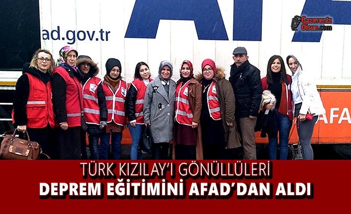 Türk Kızılay'ı Gönüllüleri Deprem Eğitimini AFAD'dan Aldı