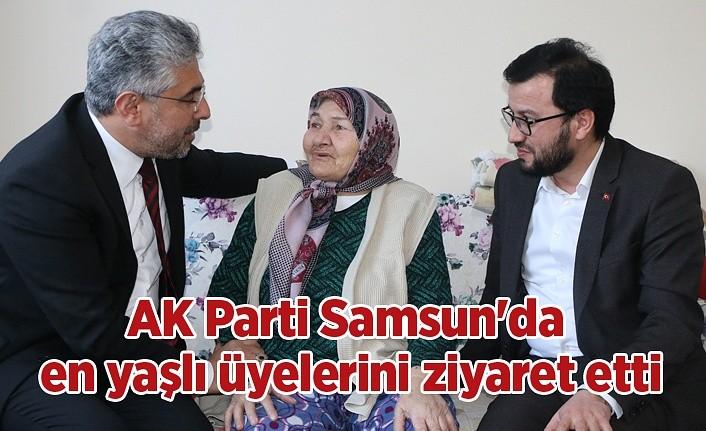 AK Parti Samsun'da en yaşlı üyelerini ziyaret etti