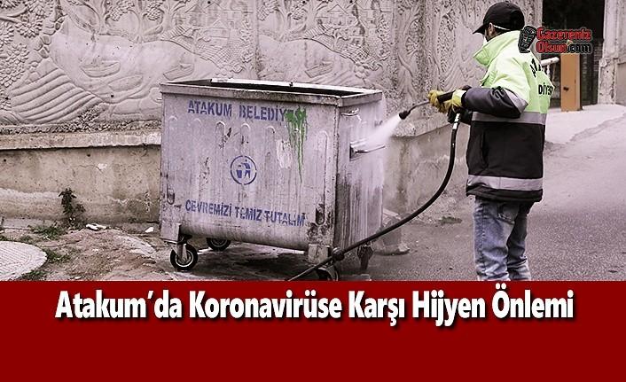 Atakum'da Koronavirüse Karşı Hijyen Önlemi
