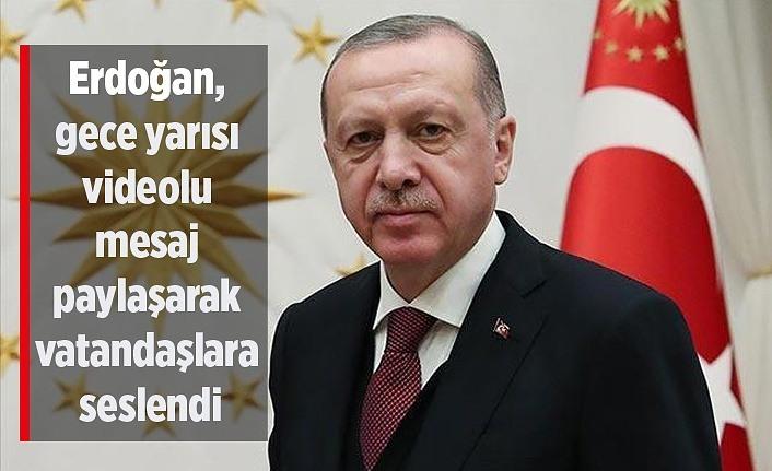 Cumhurbaşkanı Erdoğan vatandaşlara seslendi: Sizden bir ricam var