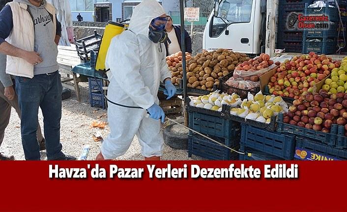 Havza'da Pazar Yerleri Dezenfekte Edildi