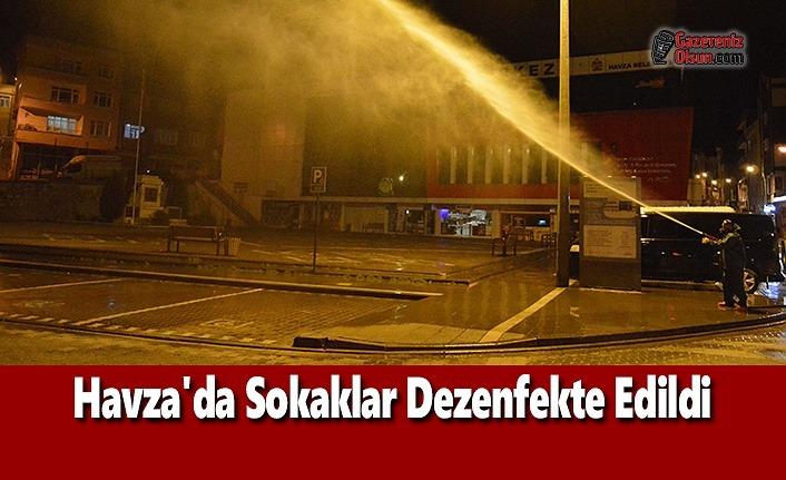 Havza'da Sokaklar Dezenfekte Edildi