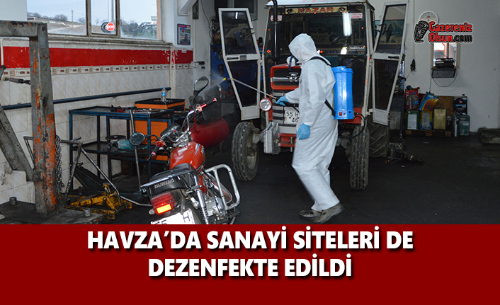 Havza'da Sanayi Siteleri de Dezenfekte Edildi