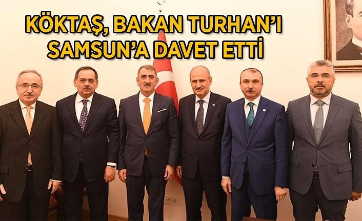 Samsun heyeti Bakan Turhan'ı ziyaret etti