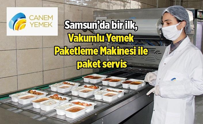 Samsun'da bir ilk, yemekler artık paketlenerek servis edilecek