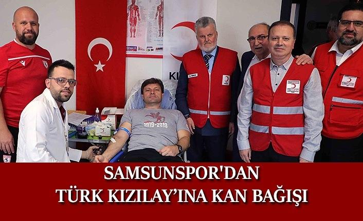 Samsunspor'dan Türk Kızılay'ına Kan Bağışı