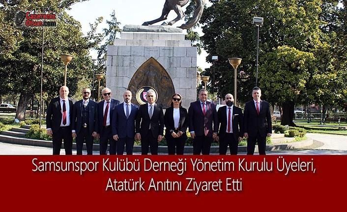 Samsunspor Kulübü Derneği Atatürk Anıtını Ziyaret Etti