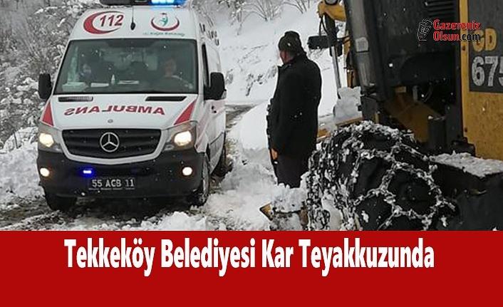 Tekkeköy Belediyesi Kar Teyakkuzunda