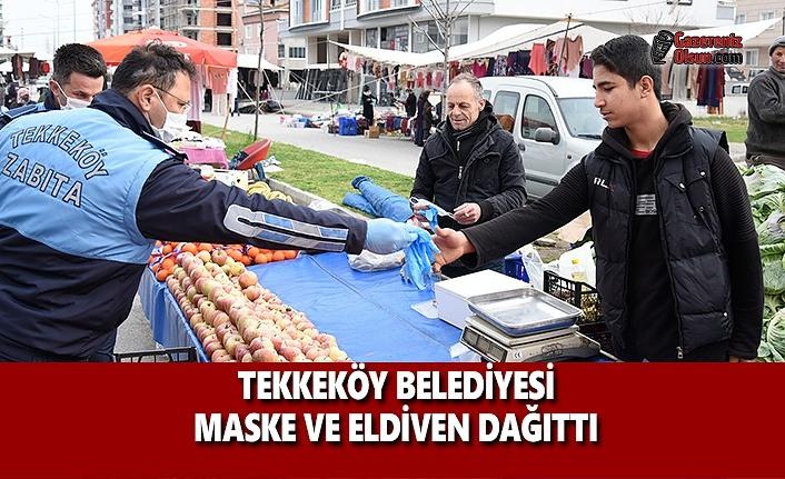 Tekkeköy Belediyesi Maske ve Eldiven Dağıttı