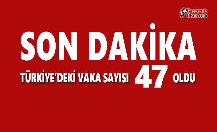 Türkiye'deki Koronavirüs Vaka Sayısı 47 Oldu