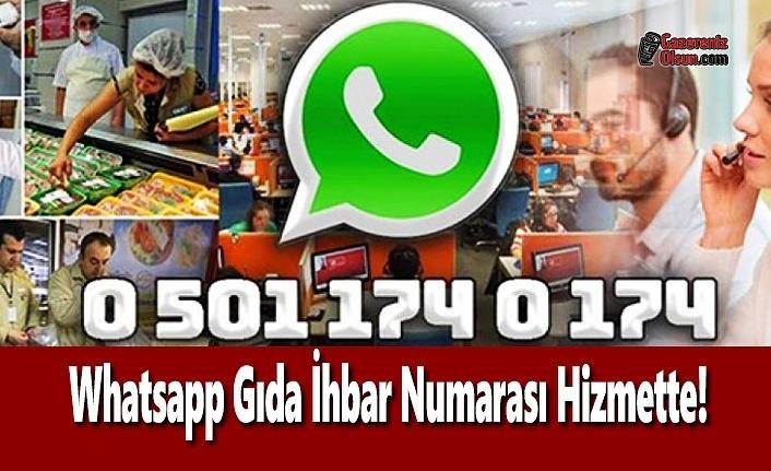 Whatsapp Gıda İhbar Numarası Hizmette!