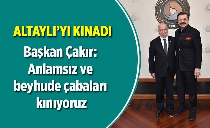Başkan Sinan Çakır, Fatih Altaylı'yı kınadı