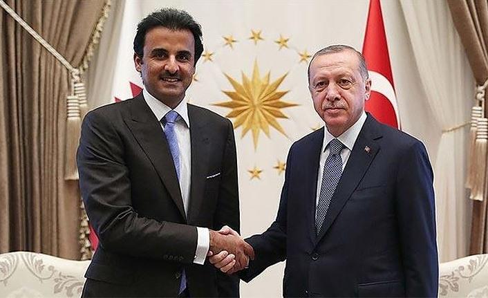 Cumhurbaşkanı Erdoğan Katar Emiri Sani ile görüştü
