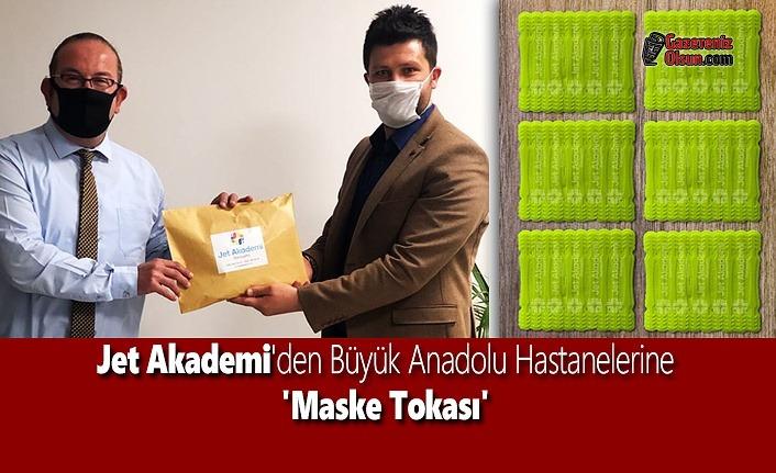 Jet Akademi'den Büyük Anadolu Hastanelerine 'Maske Tokası'