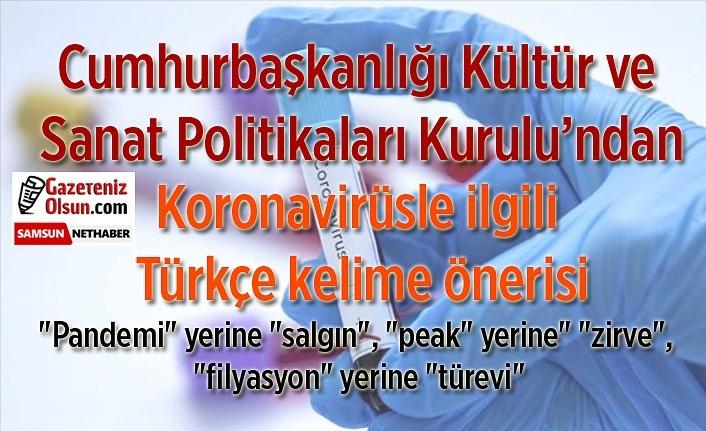 Koronavirüsle ilgili Türkçe kelime önerisi