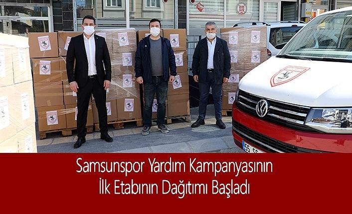 Samsunspor Yardım Kampanyasının İlk Etabının Dağıtımı Başladı