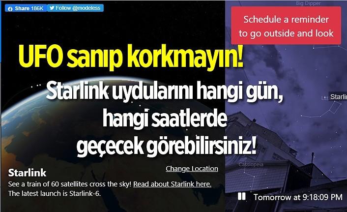 Starlink uydularını nasıl görebiliriz, hangi gün, hangi saatlerde geçecek görebilirsiniz!