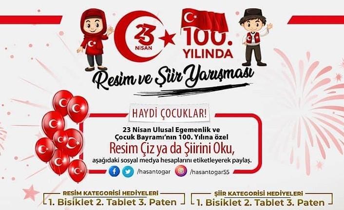 Tekkeköy Belediyesi'nden ödüllü Resim ve Şiir Yarışması