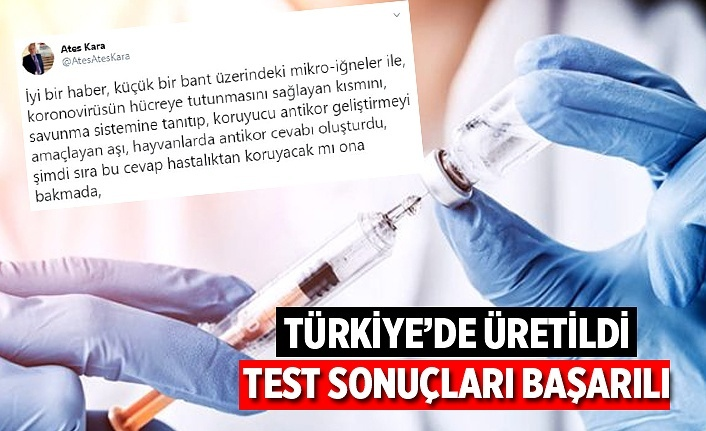 Türkiye'de üretilen koronavirüs aşısı olumlu sonuç verdi!
