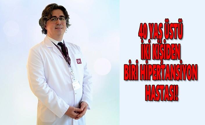 40 yaş üstü iki kişiden biri hipertansiyon hastası!
