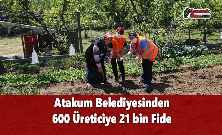 Atakum Belediyesinden 600 Üreticiye 21 bin Fide