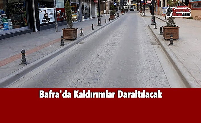 Bafra'da Kaldırımlar Daraltılacak