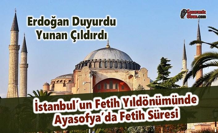 Erdoğan Duyurdu, Yunan Çıldırdı