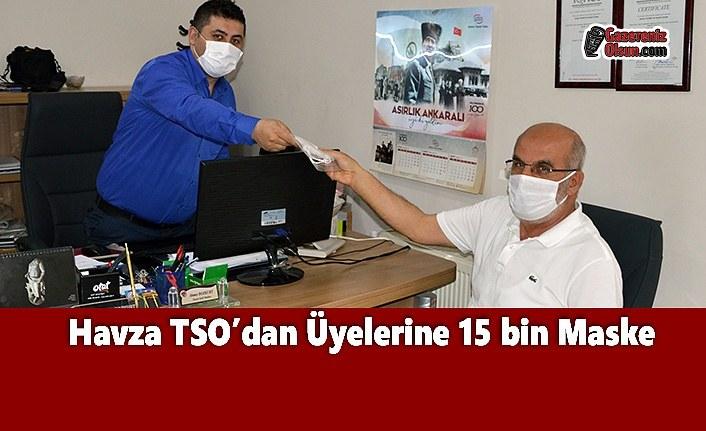 Havza TSO'dan Üyelerine 15 bin Maske