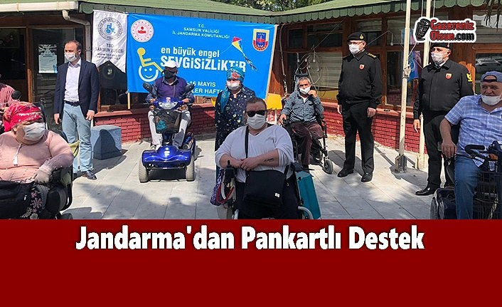 Jandarma'dan Pankartlı Destek