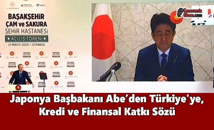 Japonya Başbakanı Abe'den Türkiye'ye Kredi ve Finansal Katkı Sözü