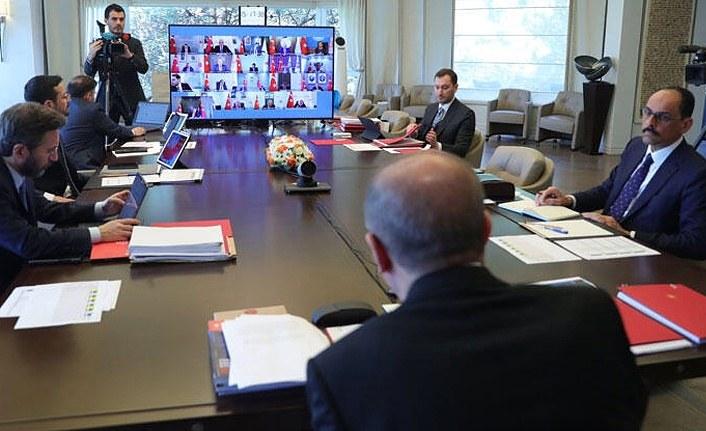 Kabine toplandı! Cumhurbaşkanı Erdoğan açıklama yapıyor