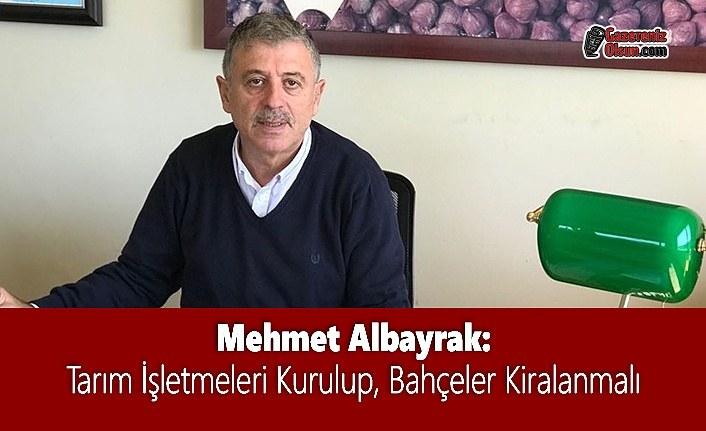 Mehmet Albayrak: Tarım İşletmeleri Kurulup, Bahçeler Kiralanmalı