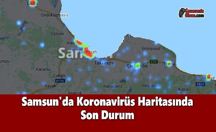 Samsun'da Koronavirüs Haritasında Son Durum