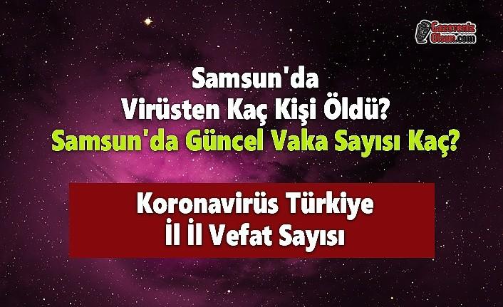 Samsun'da Virüsten Kaç Kişi Öldü? Samsun'da Güncel Vaka Sayısı Kaç? Koronavirüs Türkiye İl İl Vefat Sayısı