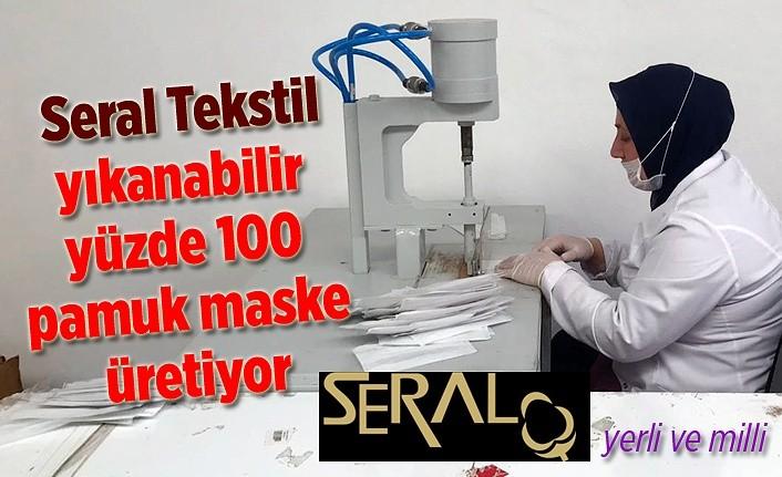 Seral Tekstil yıkanabilir yüzde 100 pamuk maske üretiyor