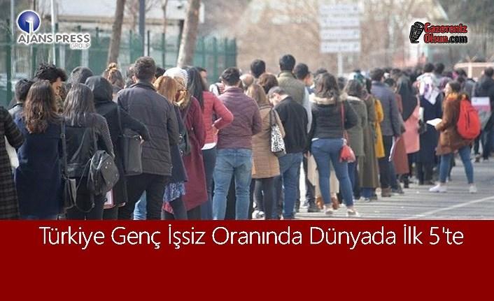 Türkiye Genç İşsiz Oranında Dünyada İlk 5'te