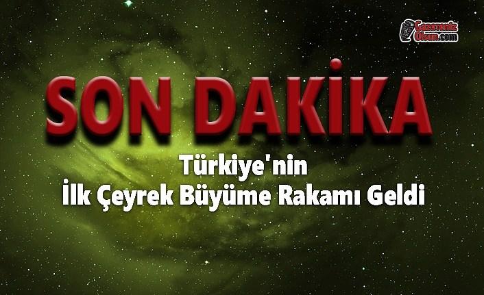 Türkiye'nin İlk Çeyrek Büyüme Rakamı Geldi