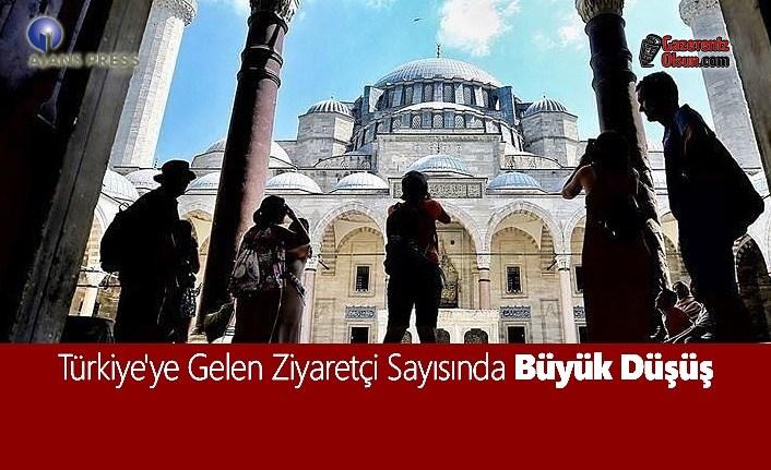 Türkiye'ye Gelen Ziyaretçi Sayısında Büyük Düşüş