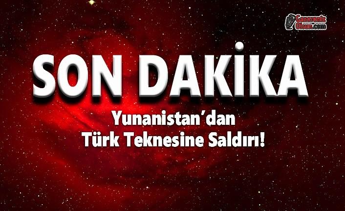 Yunanistan'dan Türk Teknesine Saldırı!