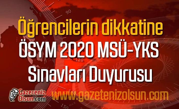 2020 MSÜ Askeri Öğrenci Aday Belirleme Sınavı'na gireceklerin dikkatine!