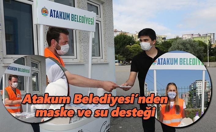 Atakum Belediyesi'nden  maske ve su desteği