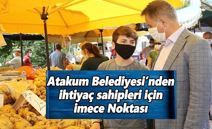 Atakum Belediyesi'nin  İmece Noktası'nda alan  el veren eli görmüyor