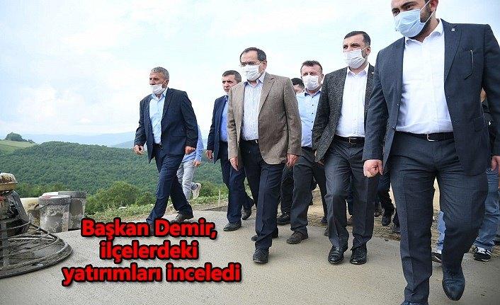Başkan Demir, ilçelerdeki yatırımları inceledi