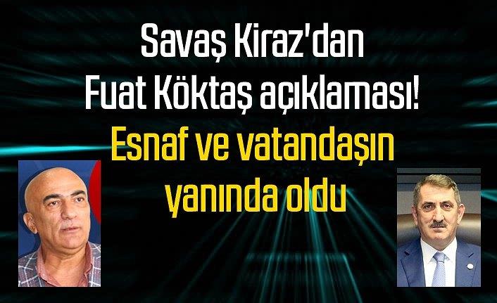 Başkan Kiraz'dan Milletvekili Köktaş'a teşekkür