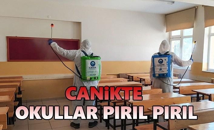Canik'te okullar Sınav Öncesi pırıl pırıl
