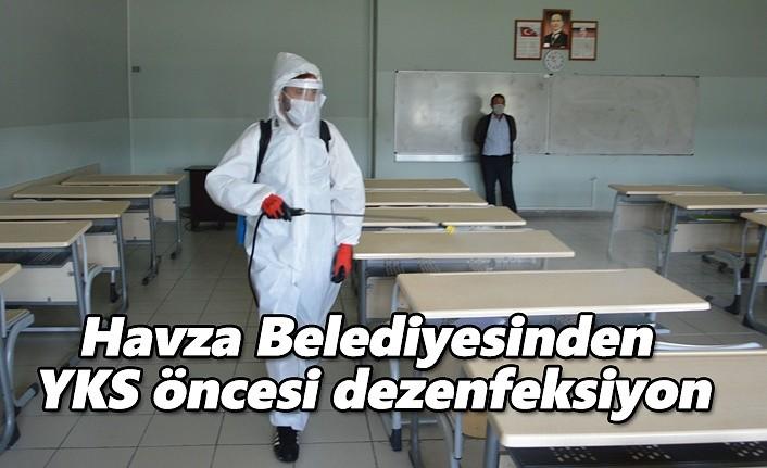 Havza Belediyesinden YKS öncesi dezenfeksiyon