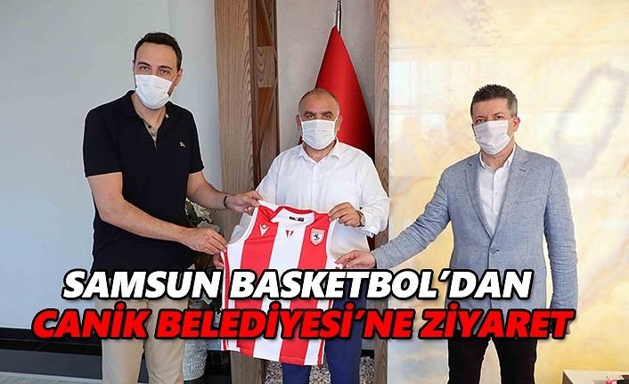 Samsun basketbol'dan Canik Belediyesi'ne ziyaret