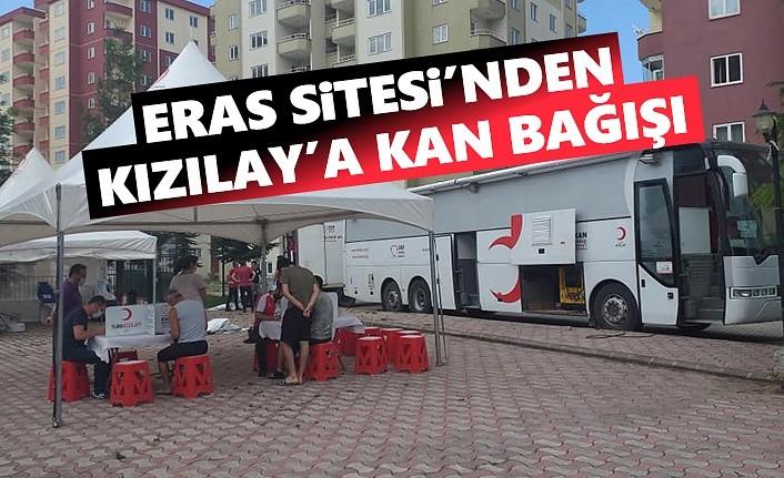 Samsun'da Eras Sitesinden Kızılay'a Kan Bağışı